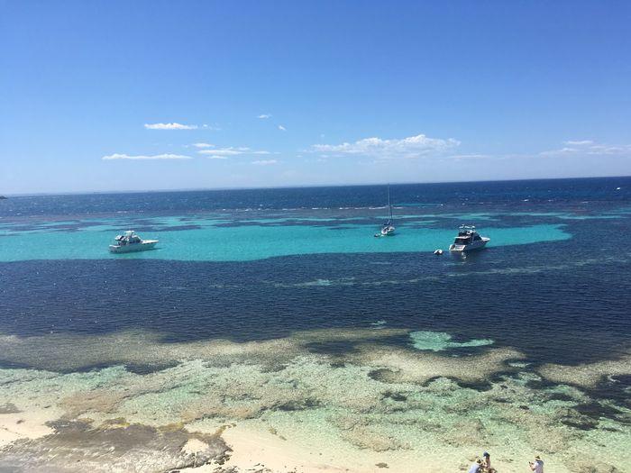 Two blues Sea