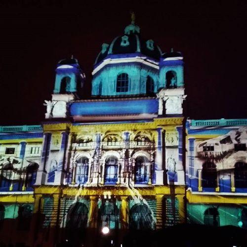 Wien Leuchtet Vienna Colorful Naturhistorischesmuseum Museum Night Photography Lights Cities At Night