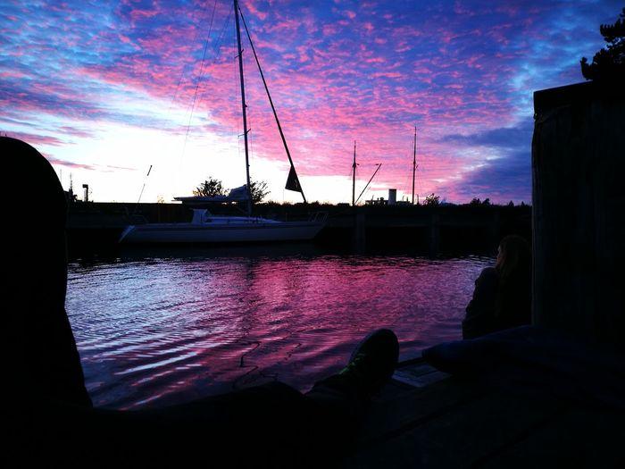 Sunset Copenhagen Refshaleøen Summer Sailboat Colour Of Life