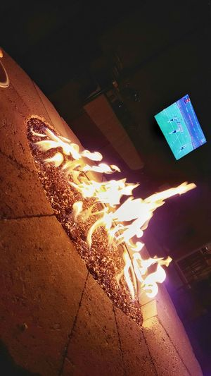 Superbowl LI Superbowl Falcons Vs Patriots  Seahawks Fan Lady Gaga Killed It Love Superbowl Commercials No People Night Illuminated Outdoors Fire Firepit First Eyeem Photo HelloEyeEm SoCal California PhonePhotography Mypointofview Photooftheday Close-up Tv Going For The Falcons Fireplace Love Football