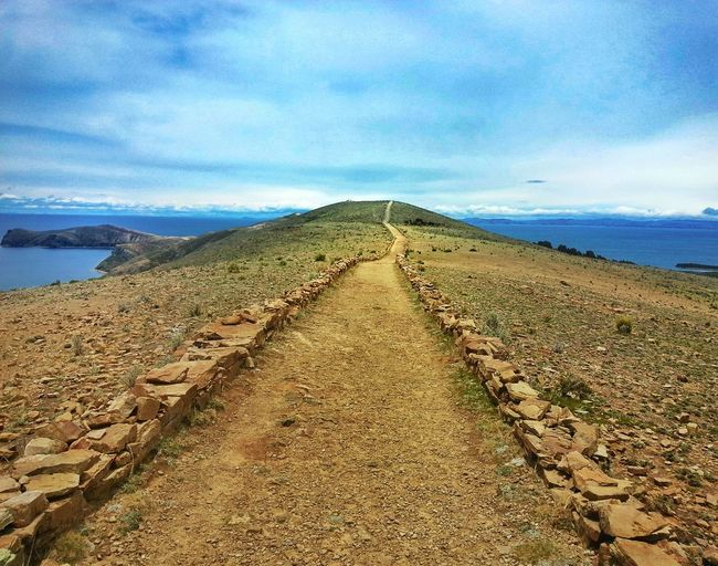 The Infinite road Infinity Endless Road Sun Island Bolivia