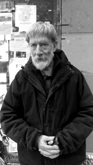 windell w.w. photo by Shell Sheddy Streetphotography Street Documentary Photography Shellsheddyphotography Sheshephoto The Street Photographer - 2018 EyeEm Awards The Photojournalist - 2018 EyeEm Awards Bnw Bnw_collection Bnw_captures Bnwphotography Bnw_life City Portrait Men Warm Clothing Politics And Government Looking At Camera Senior Adult Standing