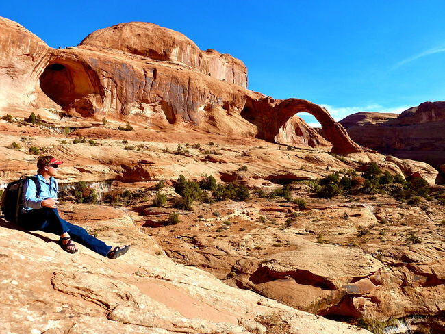 Corona Arch at Moab UT Corona People Oneperson Rockformation Outdoorsie Weekend Activities Arches Moab, Utah Mountains And Sky EyeEm Outdoors Outside EyeEm Nature Lover Landscape United States Outdooractivities Nature Photography View Magnificent Hike Hiking Eyem Gallery Week On Eyeem Showcase March Kiomi Collection