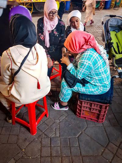 Market Marakesh Jemaa El-Fna Henne Tatoo Hands Marakesh Morocco Connected By Travel