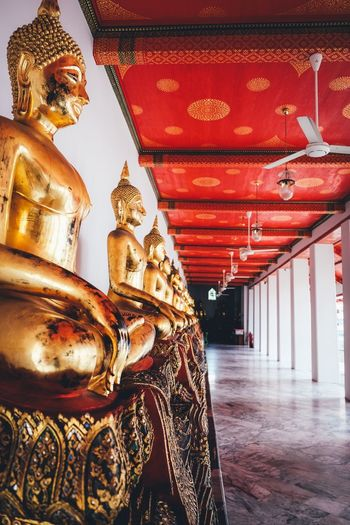 Bangkok Thailand Gold Colored Architecture Built Structure Art And Craft Sculpture Religion Belief First Eyeem Photo