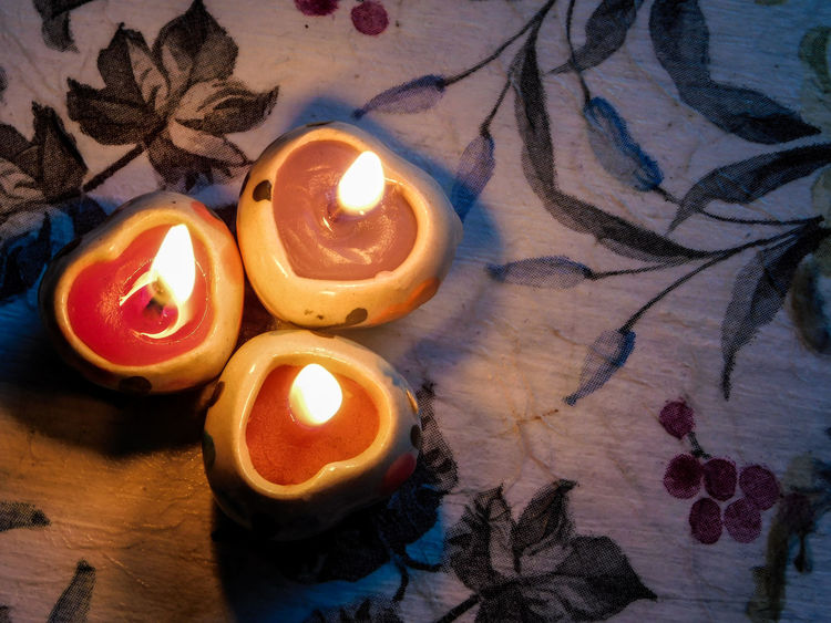 Romantic light EyeEmNewHere Light Love Romance Romantic Burning Candle Close-up Evening Flame Heart Heart Shape Illuminated In The Mood Indoors  No People Small
