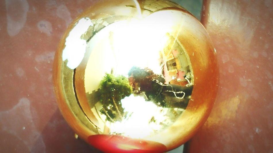 Christmas Balls Mirror Street Photo Chrismast
