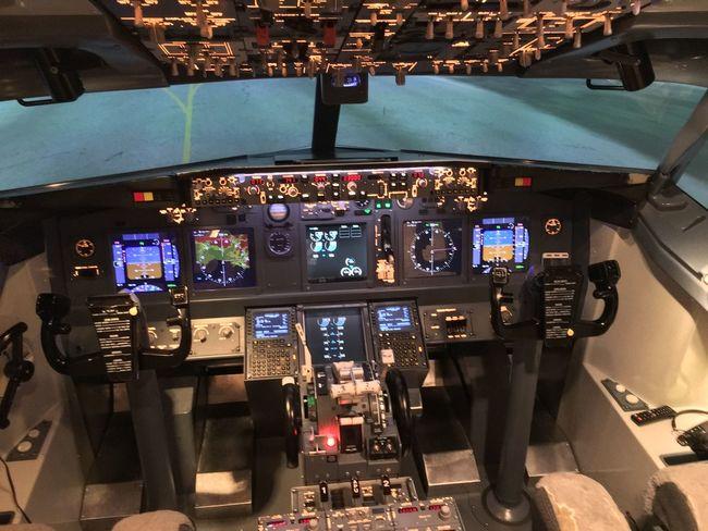 Cockpit Flight Flight Simulator Indoors  No People Plane Planes Simulator