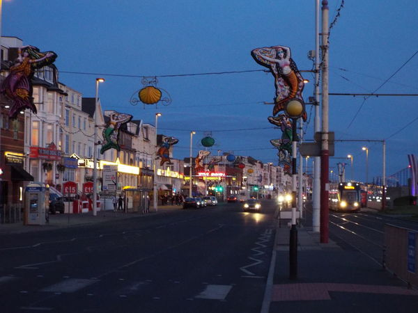 Cars Tram Blackpool Tram Late Evening Blackpool Seafront Tourism Tourist Attraction  Summer Summertime Summer2016 The Essence Of Summer Late Evening Sky Night Time Tourists Night Lights