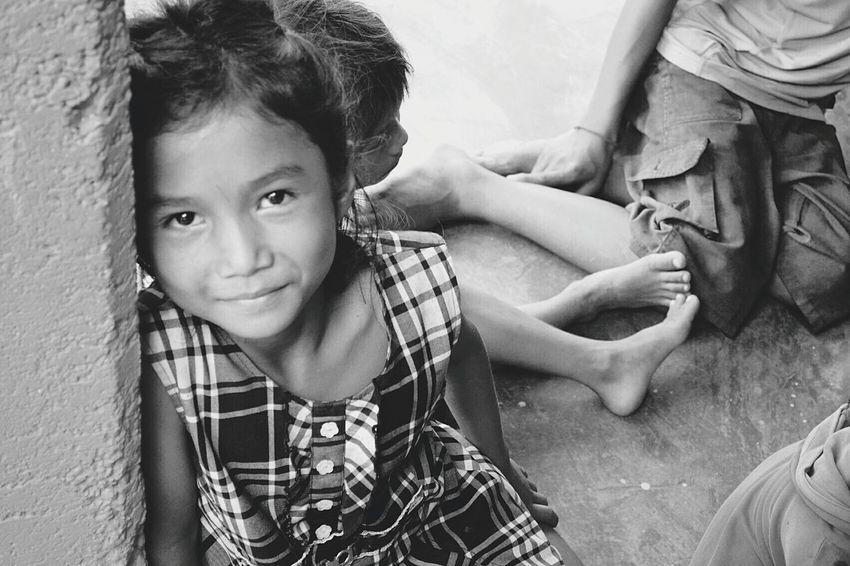 Simple Love - Cambodia Monochrome Photography Blackandwhite Cambodia Children Joy Love