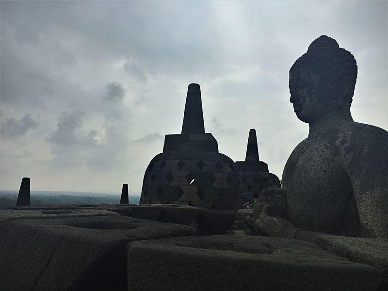 Buddha Yogyakarta, Indonesia Architecture Belief Borobudur Cloud - Sky No People Religion Spirituality Stone Stone Material Temple The Past Travel Destinations Wonderful Indonesia
