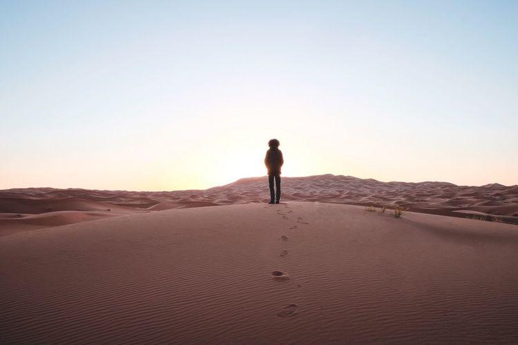 The journey continues Sahara Sahara Desert Desert Sand Alone Sky Wide Angle