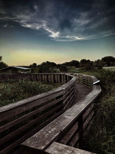 Breathing Space Sky Railing Outdoors Tranquil Scene Wood - Material Cloud - Sky Landscape Scenics Nature Footbridge Beauty In Nature Sunset Nature Photography Sky_collection Outdoor Photography Open Space Freshness Rockport Texas Before Hurricane Harvey
