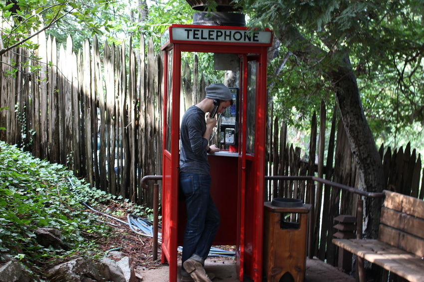Big Sur, Ca. Casual Clothing Lifestyles Nature Outdoors Phone Booth Real People Young Adult