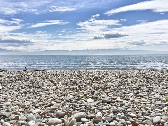 The Great Outdoors - 2016 EyeEm Awards Bodensee See Strand Kieselsteine Kies Kiesstrand Beach Horizon Over Water Wasser Himmel Himmel Und Wolken Horizont  Ruhe Am See Ruhe Blau Steine