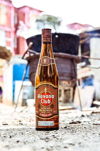 Focus On Foreground Bottle Close-up Day Outdoors No People Freshness Havana Club Cuba Santa Clara Cuba