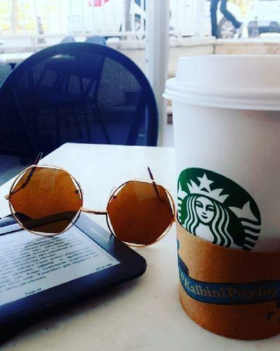 Drink good coffee, read good books 😎 Coffeetime Yummy Starbucks Book Work LittleBreak Coffee Goodone Latte Share Shareyourheart Kalbinipaylaş