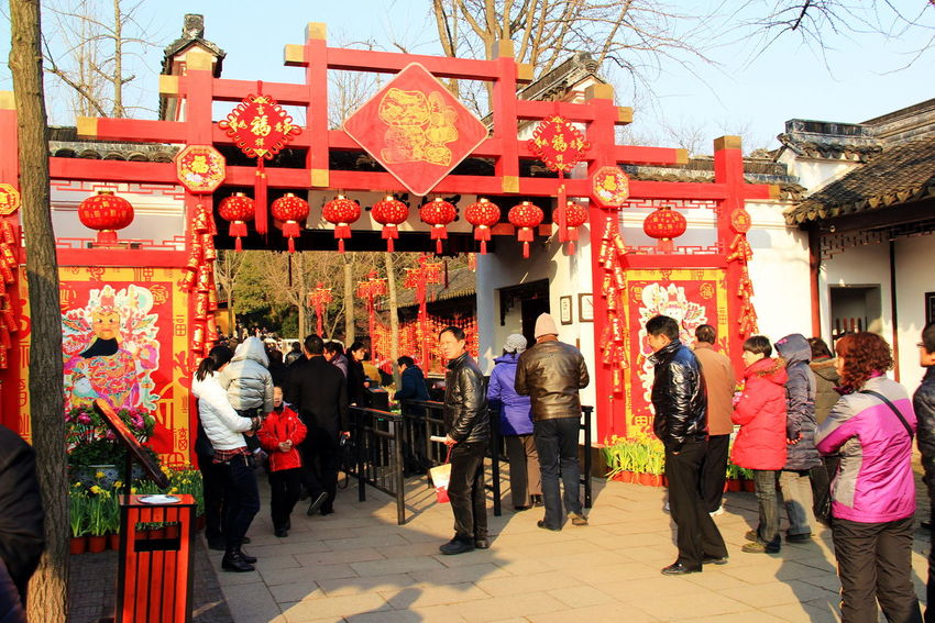 3RD DAY OF CHINESE NEW YEAR IN SUZHOU, CHINA Chinese New Year Crowds Enjoyment Family Gathering FESTIVE LIFESTYLES Festive Season Lifestyle Shopping Temples Traditional Culture WINTRY FESTIVE Urban Spring Fever Colors Things I Like Canonphotography Scenery Shots Photography In Motion Temples