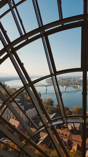 The nice view of Danube River from the Esztergom Basilica