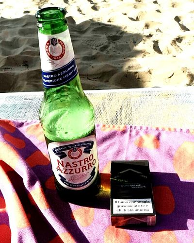 Summer Summertime Beach Sea Vieste Puglia Birra Beer Cigarette  Smoke