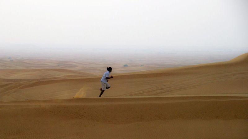 Over the dunes Desert United Arab Emirates Traveling Running Capturing Freedom Taking Photos Eye4photography  Enjoying Life Living Bold