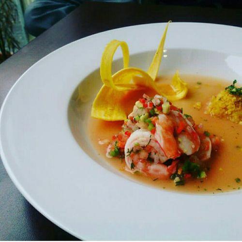 Ecudorian ceviche of shrimps Food Ecuadorianfood Ecuador🇪🇨 Ecuadorianceviche Foodphotography Foodporn Shrimps Greenbananas Bananachips AllYouNeedIsEcuador Cuisiner Cuisine Art First Eyeem Photo