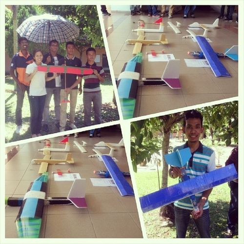 Todays event: Glider Project Launching Days!!! Thorbaek ar 'The old Man Glider' yg kolor biru 2. Longest distance travelled. 39.6M. MechanicProject Glider