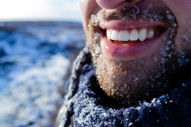 Beautiful Close-up Day Happiness Ice Iceland Men Nature One Person Outdoors Peaceful Real People Smile Snow