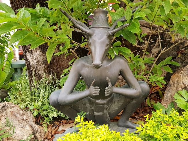 Satan statue in temple Mythology Myth Religion Religious  Religion And Beliefs Satan Temple Antique Statue Sculpture Place Of Worship Goddess