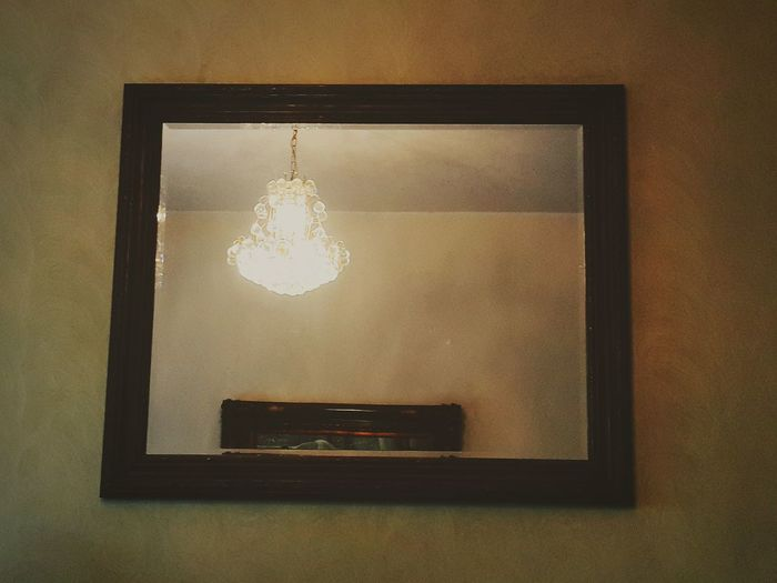 No People Antique Old-fashioned Illuminated Indoors  EyeEmNewHere Samsungnote3 EyeEmSelect EyeEm Selects Tranquility Reflection Light Mirror Wall Chandelier Frame Wooden Woodenframe House The Week On EyeEm