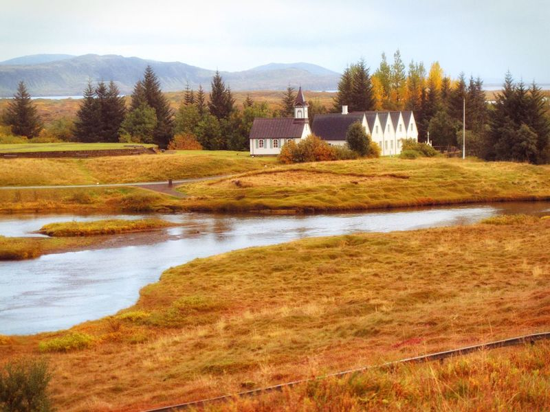 Thingveller Plain site of the first parliament. Landscape Landscape_Collection Iceland Iceland_collection Buildings Architecture Building Exterior Scenics Beauty In Nature Nature Grass Groundcover River Physical Geography Rural Rural Scene Countryside Tranquil Scene Tranquility My Travels