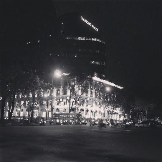 Blackandwhite City City At Night Bokeh Light