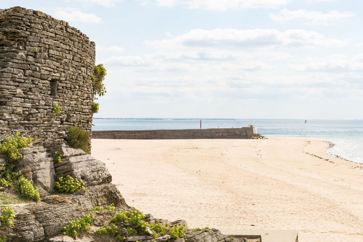 Architecture Barneville Carteret Beach Beauty In Nature Built Structure Cloud - Sky Day France Horizon Over Water Nature No People Normandie Normandy Old Ruin Outdoors Scenics Sea Sky Water