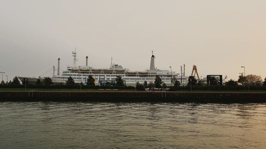 Exploring New Ground Landmark Landmarks Cloudy Background Boat Ship Autumn Collection Autumn Tranquility Scenics Harbour View Harbor View Amazing View Sillouette Sunset Silhouettes Sunset Sunset_collection Travel Destinations Taking Pictures Taking Photos Dutch Cities SSRotterdam City Quayside
