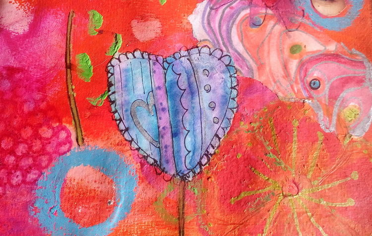 I Love Colour.... a detail Colour A Detail Heather Fifield Bright Colours I Love Art My Art Art Journal Page Art On Eyeem ArtWork ArtInMyLife Mixed Media Skwirrel Heaven