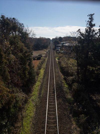 大洗鹿島線 Lightroom Mobile IPhoneography Railroad Track Rail Transportation Transportation The Way Forward Day No People Sky Railway Track Landscape An Eye For Travel