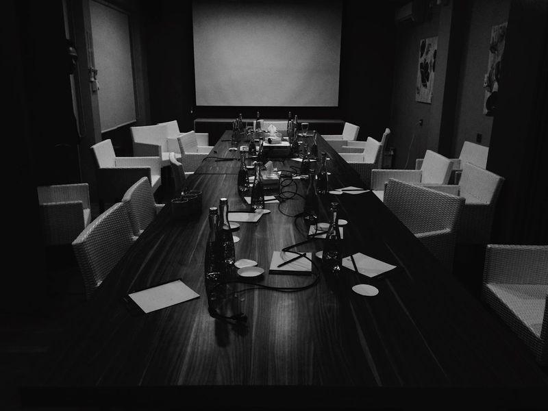Meeting Room Blackandwhite Black & White Hitamputih IPhoneography Monochrome