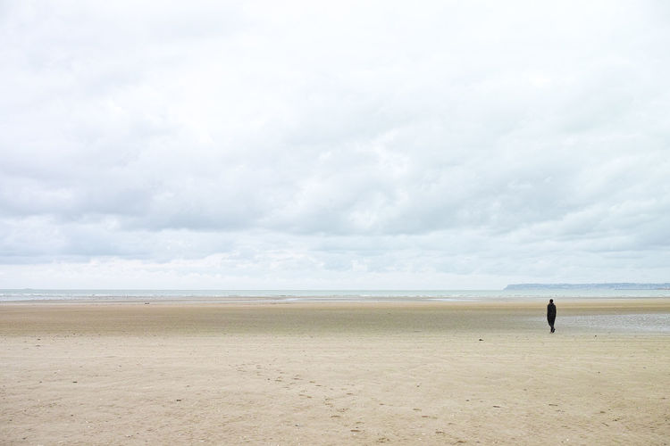 Alone Beach Cloud - Sky Lonesome Nature One Person Sea Standing Tranquility Water