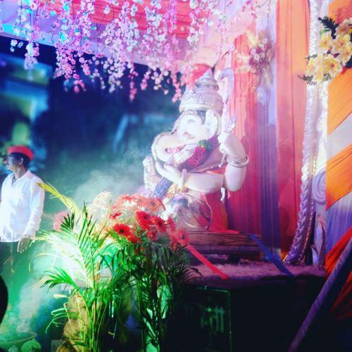 Indian Festival Ganesh Visarjan Idol Ganesha Hindu God Human Representation