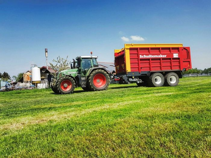 #farmlife Hobby Fendt #Silo Farm Worker Working Rural Scene Occupation Agriculture Combine Harvester Clear Sky Fire Engine Field Farm Agricultural Machinery