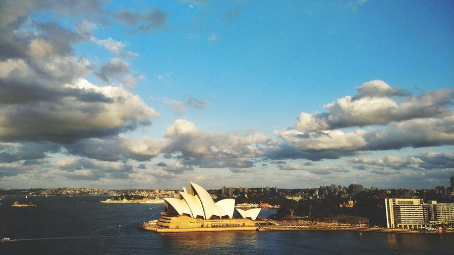Sunset on Opera house Outdoors Architecture Cloud - Sky Sydney, Australia Opera House Travel Destinations Water Cityscape First Eyeem Photo