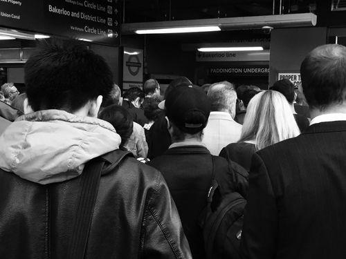 Over crowding. Paddington Underground Public Transportation Tube Streetphotography Streetphoto_bw Monochrome Black & White Black And White Blackandwhite Londonunderground