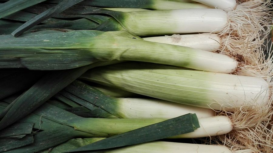 Full frame shot of leeks