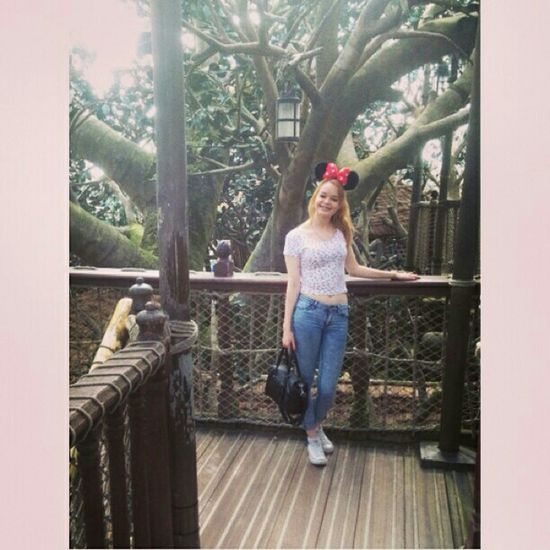 Disneyland paris👌❤🎵 That's Me Check This Out Fashion&love&beauty Tattoo ❤ Style Picture Love Fashion Girl With Tattoos Taking Photos