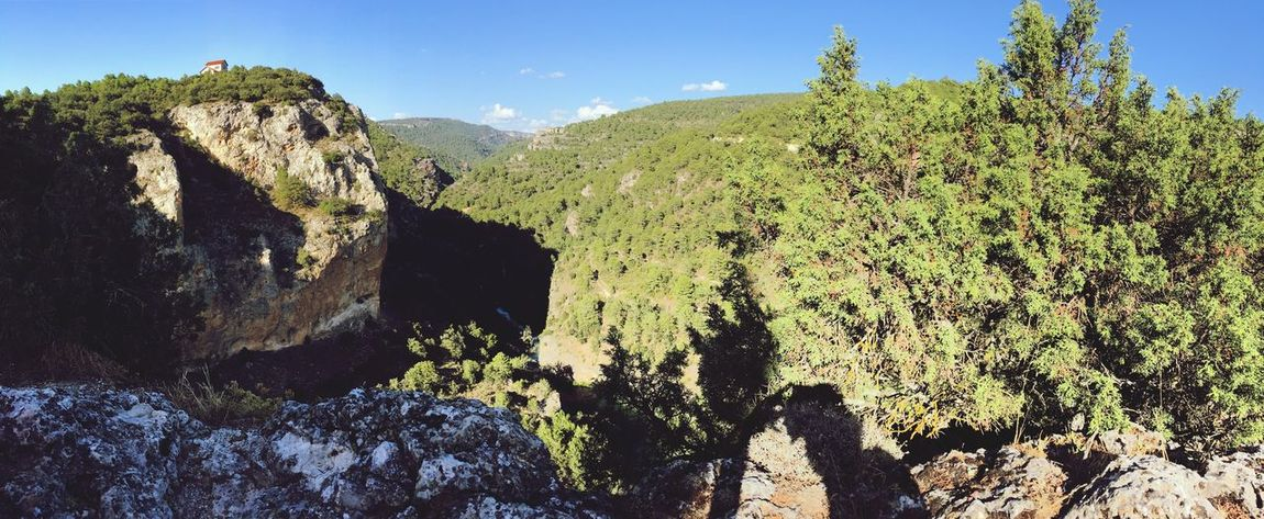 EyeEm Selects Ventano Del Diablo, Cuenca, Spain Ventano Del Diablo Nature Mountain Beauty In Nature Landscape Tranquility No People Day Outdoors Sky Cliff Scenics Growth Tree Tranquil Scene Tranquility Nature Forest Beauty In Nature Tree Water River Green Color