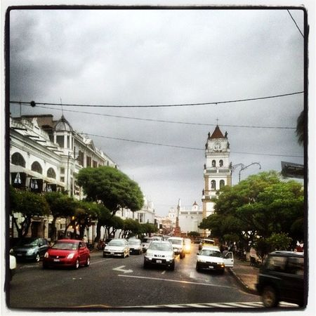 A rainy day in Sucre , Bolivia