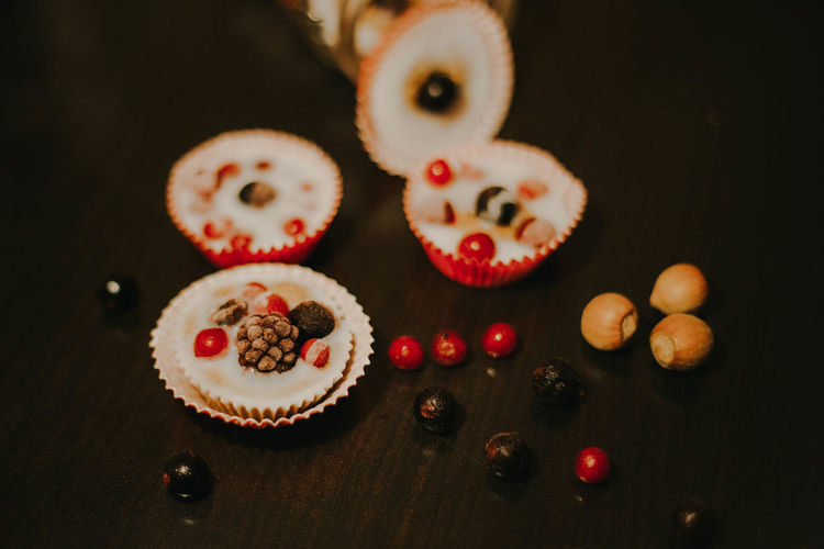 Cupcake Dessert Food Food And Drink Freshness Fruits Still Life Sweet Food Table