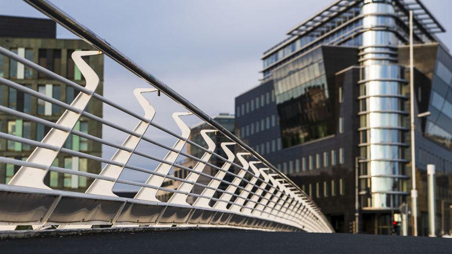 Railings on a bridge