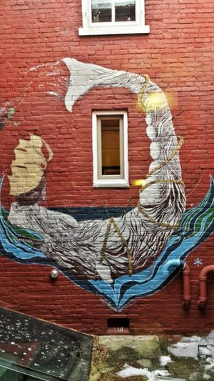 Urban Art at Dog Star Books. Mural