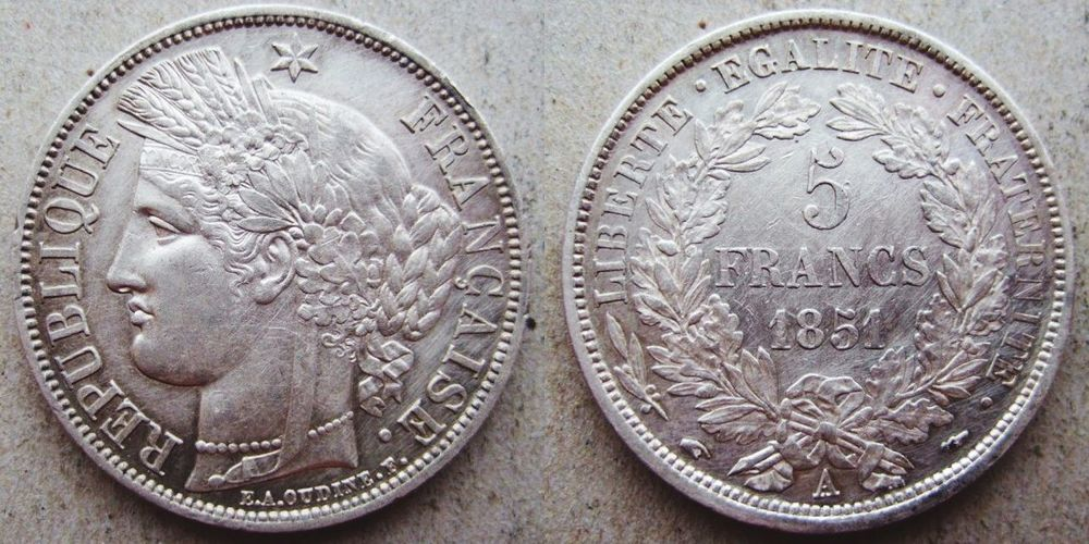 Thanks brother! French Coin Money Moneda 5_francs Francia
